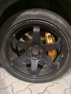 Brembo brakes and Rays 18' Rims (swap)