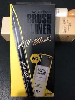 全新CLIO WATERPROOF BRUSH LINER KILL BLACK防水防油持久眼線筆 NEW GIFT SET