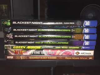 DC Blackest Night HC Lot (5 Books) Plus 2 Books