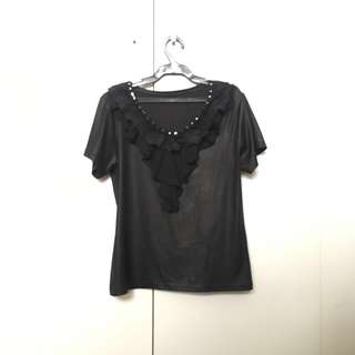 Black Shinny Top