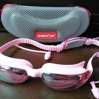Kacamata Renang SPEEDO/ Swimming Goggles Pink Cewek Wanita Anti Fog & UV