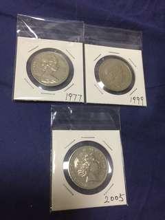 不同年份澳洲幣