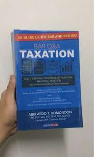 Bar Q&A Tax Domondon New Law Book