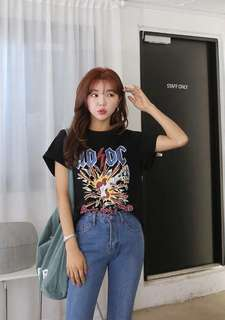 Ulzzang Rock Band Graphic Tee