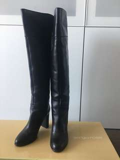 Sergio Rossi black over knee boots Size 37.5