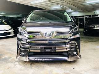Toyota vellfire rental sewa