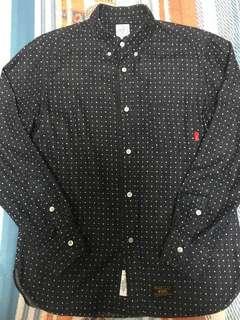 Wtaps Long Sleeve Shirt Navy White Dot Size M