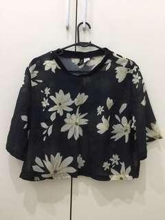 H&M Flower Crop Top