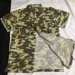 🚚 買一送一)型男襯衫短袖tee shirt