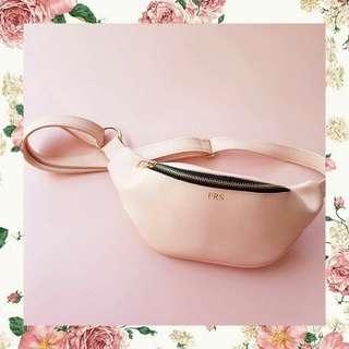 Waist bag pink/hitam