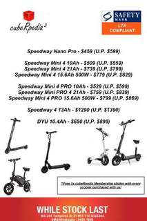 LTA compliant scooters