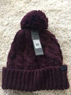 Wool hat w/ fleece lining