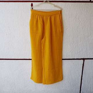 REPRICED Monki canary yellow pants