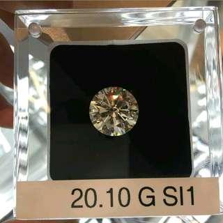 20.10ct Triple Excellent GIA loose Diamond (G/SI)
