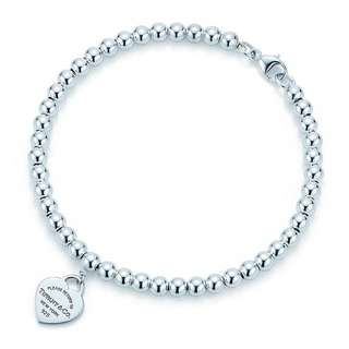 RETURN TO TIFFANY® BEAD BRACELET By Tiffany and Co.   ( Preloved and Authentic )