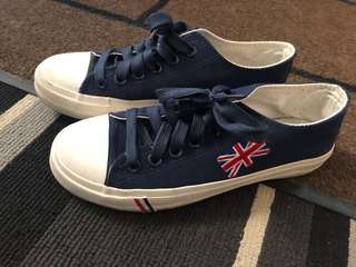 British converse style sneakers