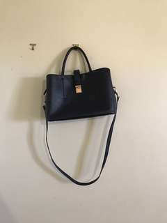 Black H&M Structured Bag