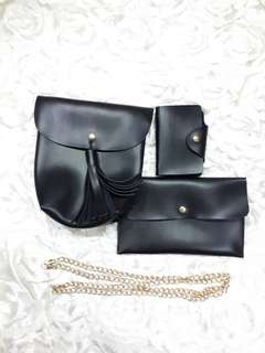 BN Sling Bag, Pouch And Name Card Holder