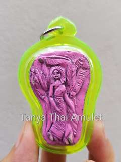 Thai amulets Nang Tanee with Arthan heart takrut Lp Wieng