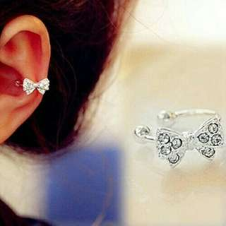 1 pc Bow earbone clip earrings