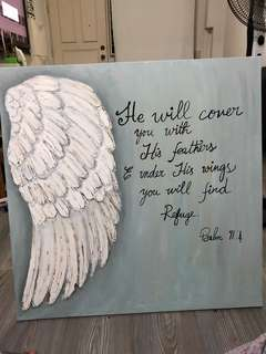 Acrylic painting on canvas- Bible verse