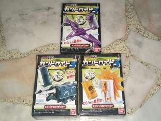 Bandai 2011 Candy Toys: Kamen Rider OOO Candroid Set Volume 3