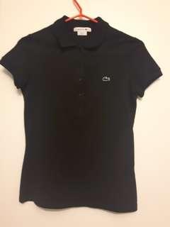 Lacoste Black Polo Shirt Size 38