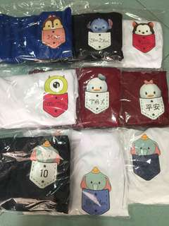 Cotton Tee • Tsum Tsum • Mickey Minnie • Pooh • Tigger