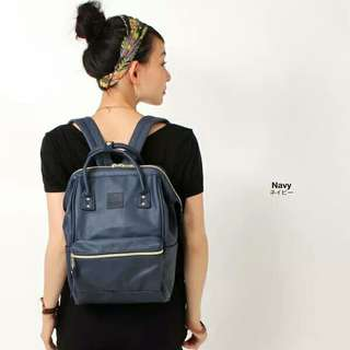 Anello Backpack PU Leather Large AT-B1211 - Navy -