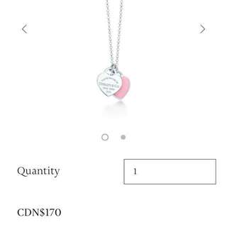 Return to tiffany necklace baby pink