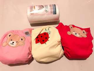 Raf Raf Cloth Diapers x 3