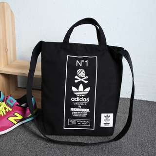 [PO} ADIDAS Original by The Neigborhood Two Way Carry Sling Tote Bag (Black) PO111500183 *GWP Japanese Magazine* + FREE Post