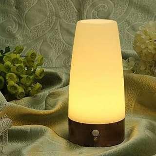Wireless Motion Sensor LED Table Lamp Retro Night Light