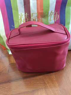 Makeup pouch with handle Red