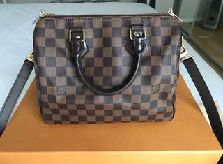 Authentic Lv Speedy Bandouliere 25 Damier