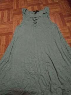 Criss cross design dress