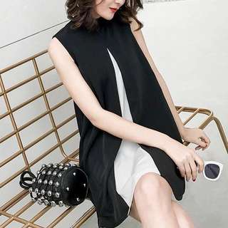 Gallerie Duo tone overlay shift Dress