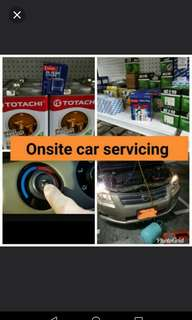 Hassle free onsite car servicing, car aircon, belting.