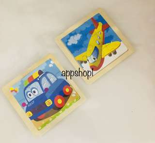 Transportation theme wooden puzzle- children party goodies favors, goodie bag gift
