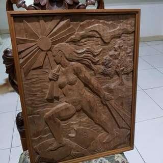 Sculpture on Wood