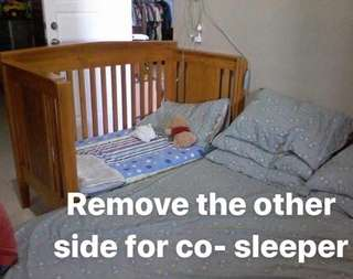 Wood Baby Crib / Co-Sleeper