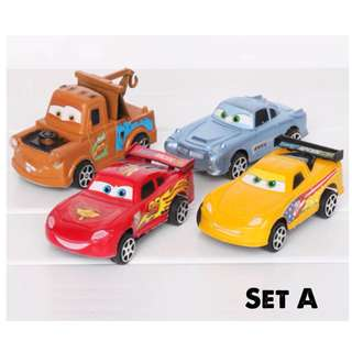 4 pcs Disney McQueen Cars Cake Topper Figurine Toy Fondant Toppers Figure Birthday Decoration