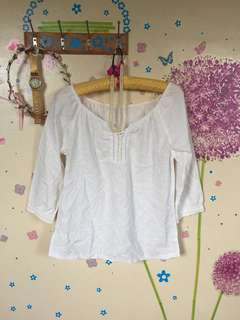 ❤️ White simple blouse
