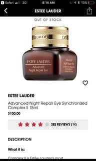Estée Lauder advanced night repair eye synchronized complex ll