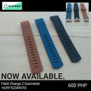 Fitbit Charge 2 straps with Gunmetal design.  Price: 600php each