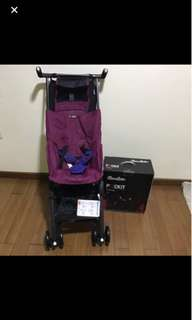 Reclined Cocolatte Geoby Pockit Stroller