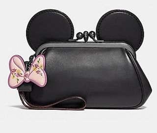Coach x Disney kisslock wristlet