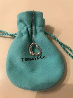 Tiffany&Co Elsa Peretti Open Heart Pendant Necklace
