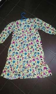 Baju dress knk knk perempuan