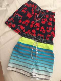 Carters and Osh Kosh board shorts 2T